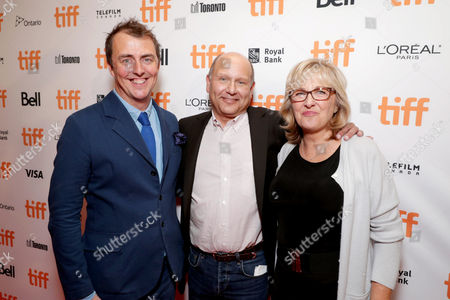"Director/Writer Garth Jennings, Producer Christopher Meledandri and Producer Janet Healy seen at Universal Pictures ""Sing"" at the 2016 Toronto International Film Festival, in Toronto"