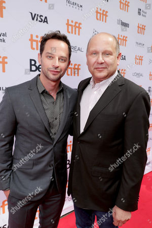 """Producer Christopher Meledandri and Nick Kroll seen at Universal Pictures """"Sing"""" at the 2016 Toronto International Film Festival, in Toronto"""