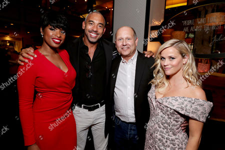 """Jennifer Hudson, Executive Music Producer Harvey Mason Jr., Producer Christopher Meledandri and Reese Witherspoon seen at Universal Pictures """"Sing"""" at the 2016 Toronto International Film Festival, in Toronto"""