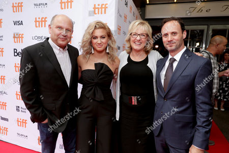 "Producer Christopher Meledandri, Tori Kelly, Producer Janet Healy and Mike Knobloch, President, Film Music and Publishing of Universal Pictures, seen at Universal Pictures ""Sing"" at the 2016 Toronto International Film Festival, in Toronto"