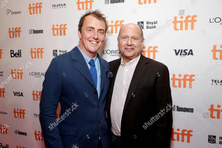 """Director/Writer Garth Jennings and Producer Christopher Meledandri seen at Universal Pictures """"Sing"""" at the 2016 Toronto International Film Festival, in Toronto"""