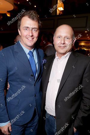 """Director/Writer Garth Jennings and Producer Christopher Meledandri seen at Universal Pictures """"Sing"""" after party at the 2016 Toronto International Film Festival, in Toronto"""