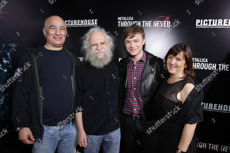 Q Prime's Peter Mensch, Manager Cliff Burnstein, Dane DeHaan and Producer Charlotte Huggins seen at the US Premiere of Picturehouse's 'Metallica Through The Never' at the AMC Metreon Theater in San Francisco, CA. Picturehouse's 'Metallica Through The Never' opens exclusively in Imax 3D on Sept 27th, Everywhere, Oct 4th. Held on Monday, Sep, 16, 2013 in San Francisco, Calif