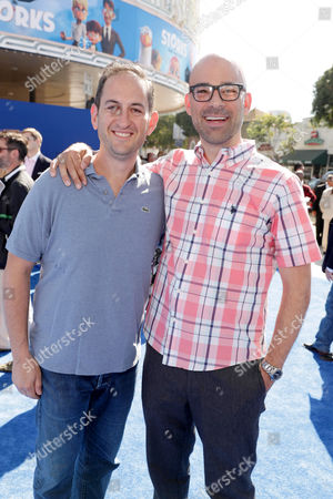 Greg Silverman, President, Creative Development and Worldwide Production, Warner Bros. Pictures, and Co-Director Doug Sweetland seen at Warner Bros. Pictures and Warner Animation Group World Premiere of STORKS at the Regency Village Theater, in Los Angeles