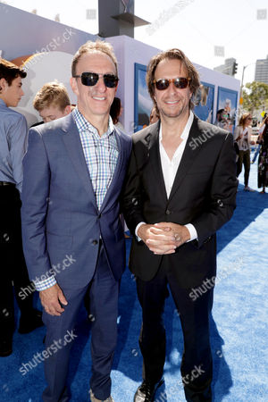 Composers Mychael Danna and Jeff Danna seen at Warner Bros. Pictures and Warner Animation Group World Premiere of STORKS at the Regency Village Theater, in Los Angeles
