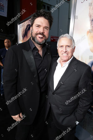 """Producer Keith Rodger and Dan Fellman, President of Domestic Distribution for Warner Bros. Pictures seen at Warner Bros. Premiere of """"The Water Diviner"""", in Los Angeles"""