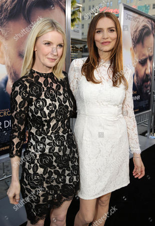 """Jacqueline McKenzie and Saffron Burrows seen at Warner Bros. Premiere of """"The Water Diviner"""", in Los Angeles"""