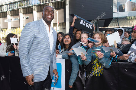 """Earvin """"Magic"""" Johnson seen at We Day, in Toronto"""
