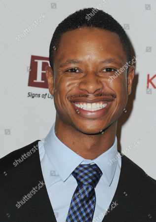 """Arjay Smith arrives at the world premiere of """"Kingdom Come"""", in Los Angeles"""