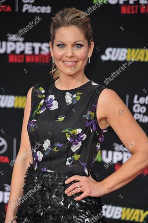 """Stock Picture of Candice Cameron Bure arrives at the World Premiere of """"Muppets Most Wanted"""", in Los Angeles"""