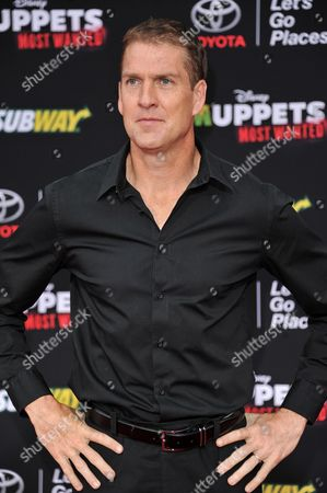 """Regan Burns arrives at the World Premiere of """"Muppets Most Wanted"""", in Los Angeles"""