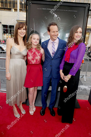 """Frances O'Connor, Madison Wolfe, Patrick Wilson and Vera Farmiga seen at World Premiere of New Line Cinema's """"The Conjuring 2"""" at 2016 LA Film Festival, in Los Angeles"""