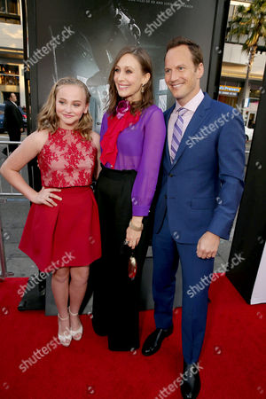 """Madison Wolfe, Vera Farmiga and Patrick Wilson seen at World Premiere of New Line Cinema's """"The Conjuring 2"""" at 2016 LA Film Festival, in Los Angeles"""