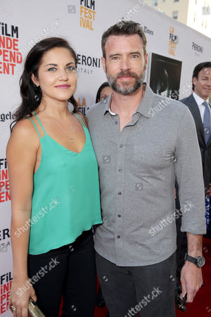 """Marika Dominczyk and Scott Foley seen at World Premiere of New Line Cinema's """"The Conjuring 2"""" at 2016 LA Film Festival, in Los Angeles"""