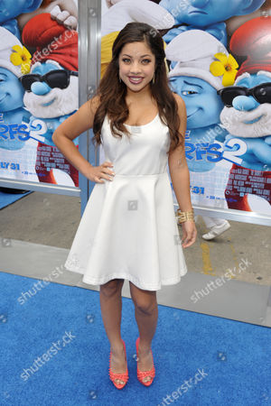 """Actress Kiana Brown arrives to the world premiere of """"The Smurfs 2"""" at the Regency village Theatre on in Los Angeles"""