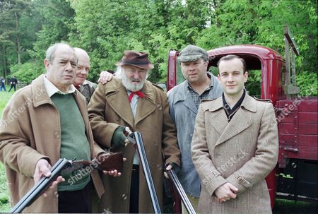 David Daker (as Matty Lovell), Peter Geddis (as Jim Healy), Bill Maynard (as Claude Jeremiah Greengrass), David Lonsdale (as David Stockwell) and David Blair (as Charlie Penwarden)