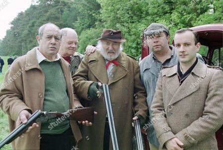 David Daker (as Matty Lovell), Peter Geddis (as Jim Healy), Bill Maynard (as Claude Jeremiah Greengrass), David Lonsdale (as David Stockwell) and David Blair (as Charlie Penwarden)
