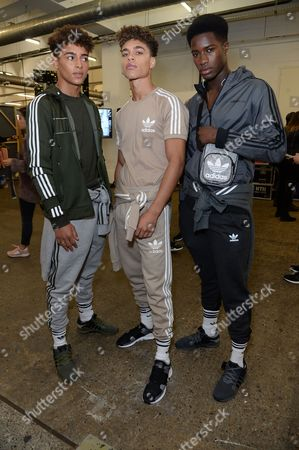 Editorial image of Adidas Streets EQT show, Front Row, Spring Summer 2018, London Fashion Week, UK - 15 Sep 2017