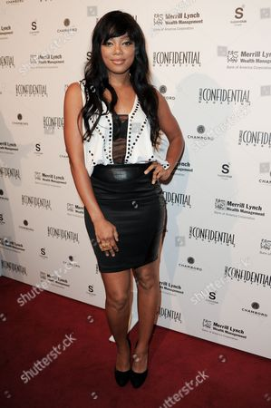 Tiffany Hines arrives at Los Angeles Confidential's 10th Anniversary event at SupperClub, in Los Angeles
