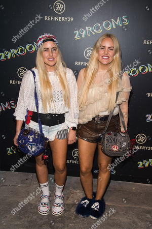 "Cailli Beckerman and Sam Beckerman attend Refinery29's ""29Rooms: Powered by People"" opening night, in New York"