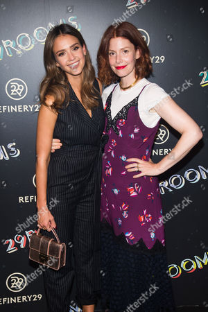 """Jessica Alba and Christene Barberich attend Refinery29's """"29Rooms: Powered by People"""" opening night, in New York"""