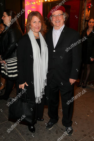 """Christa Justus, left, and Mark Linn-Baker, right, attend the Broadway opening night of """"She Loves Me"""" at Studio 54, in New York"""