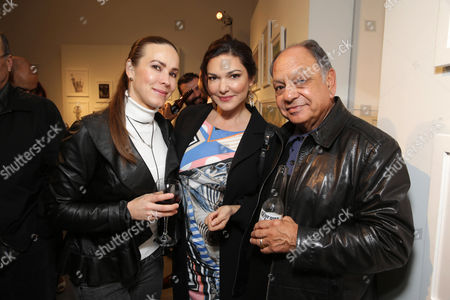 Natasha Rubin, Laura Harring and Cheech Marin seen at 'The Book of Life' - An Exhibit of the art inspired by the upcoming film, on Monday, Feb, 24, 2014 in Beverly Hills