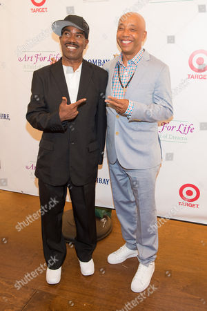 Kurtis Blow and Russell Simmons attend the Rush Philanthropic Arts Foundation's 15th Annual Art for Life Benefit at Fairview Farms in Water Mill, in New York