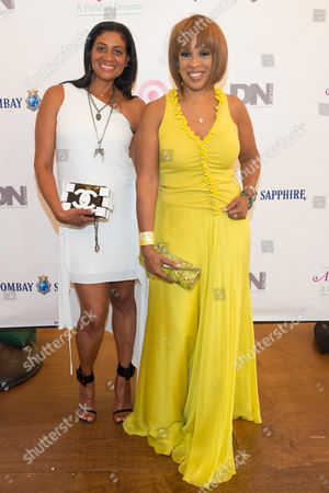 Nina Cooper (L) and Gayle King (R) attend the Rush Philanthropic Arts Foundation's 15th Annual Art for Life Benefit at Fairview Farms in Water Mill, in New York