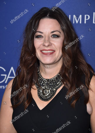 Jenny Eagan arrives at the 18th annual Costume Designers Guild Awards at the Beverly Hilton hotel, in Beverly Hills, Calif