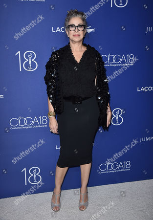 Roma Maffia arrives at the 18th annual Costume Designers Guild Awards at the Beverly Hilton hotel, in Beverly Hills, Calif