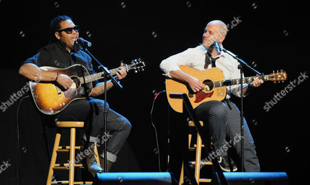 Stock Image of Amaury Gutierrez, left, Gian Marco perform at the 13th Annual Latin Grammy Awards at Mandalay Bay, in Las Vegas