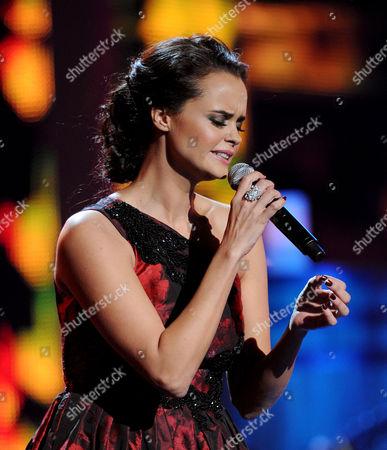 "Shaila Durcal performs ""El Dia Que Me Fui"" at the 13th Annual Latin Grammy Awards at Mandalay Bay, in Las Vegas"