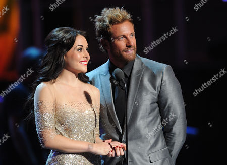 Zuria Vega, left, and Gabriel Soto present the award for best long form music video at the 13th Annual Latin Grammy Awards at Mandalay Bay, in Las Vegas