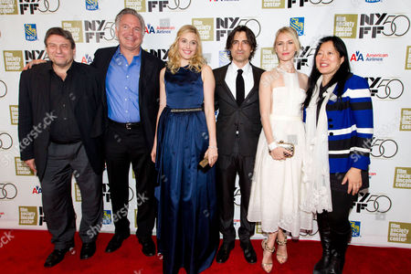 "Stock Photo of SEPTEMBER 30: Richard Pena, Johathan Searing, Greta Gerwig, Noah Baumbach, Mickey Sumner and Rose Kuo attend the premiere of ""Frances Ha"" during the 50th annual New York Film Festival at Alice Tully Hall on in New York"