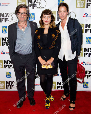 """SEPTEMBER 30: Griffin Dunne, Hannah Dunne and Anna Bingemann attend the premiere of """"Frances Ha"""" during the 50th annual New York Film Festival at Alice Tully Hall on in New York"""