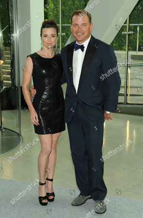 Stock Picture of Actress Linda Cardellini and designer Shane Baum attend the 2013 CFDA Fashion Awards at Alice Tully Hall on in New York