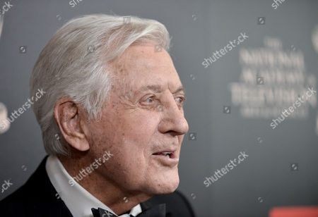 Monty Hall arrives at the 40th Annual Daytime Emmy Awards, in Beverly Hills, Calif