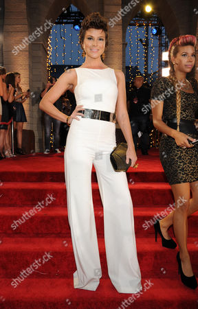 Diem Brown arrives at the MTV Video Music Awards, at the Barclays Center in the Brooklyn borough of New York