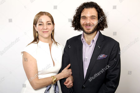 Oscar nominees Sean Fine, right, and Andrea Nix Fine pose for a portrait at the 2013 Oscar Nominee Luncheon on in Los Angeles