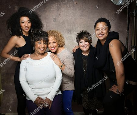 "From left, singers Judith Hill, Merry Clayton, Darlene Love, Tata Vega and Lisa Fischer from the film ""Twenty Feet from Stardom"" pose for a portrait during the 2013 Sundance Film Festival at the Fender Music Lodge on in Park City, Utah"
