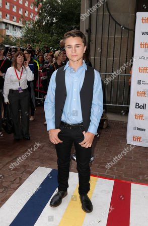 "Gattlin Griffith arrives at the premiere of ""Labor Day"" on day 3 of the Toronto International Film Festival at the Ryerson Theatre, in Toronto"