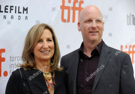 "Stock Image of Producer Gail Katz, left, and Dale Armin Johnson attend the premiere of ""Pawn Sacrifice"" on day 8 of the Toronto International Film Festival at the Roy Thompson Hall, in Toronto"
