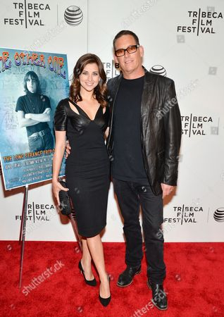 """Director Mike Fleiss and wife Laura attend the premiere of """"The Other One: The Long, Strange Trip of Bob Weir"""" during 2014 Tribeca Film Festival on in New York"""