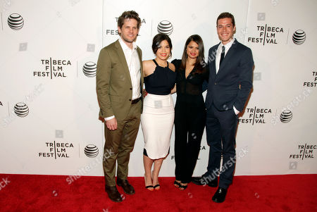 "Stock Photo of From left, actor and director Ryan Piers Williams, actresses America Ferrera and Melonie Diaz, and actor Jon Paul Phillips attend the world premiere of ""X/Y"" at the 2014 Tribeca Film Festival, in New York"