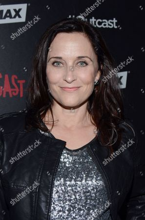 Courtenay Taylor arrives at the red carpet photocall for FOX International Studios' Comic-Con Party celebrating Robert Kirkman's new drama 'Outcast' at Andaz Hotel San Diego on in San Diego, Calif