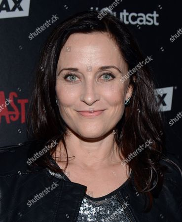 Stock Image of Courtenay Taylor arrives at the red carpet photocall for FOX International Studios' Comic-Con Party celebrating Robert Kirkman's new drama 'Outcast' at Andaz Hotel San Diego on in San Diego, Calif