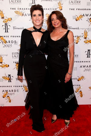 Elizabeth Musmanno, left, and Jill Belasco, right, attend the Fragrance Foundation Awards at Alice Tully Hall, in New York
