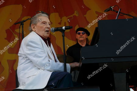Jerry Lee Lewis performs at the New Orleans Jazz & Heritage Festival, in New Orleans, Louisiana