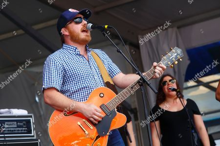 Marc Broussard performs at the New Orleans Jazz & Heritage Festival, in New Orleans, Louisiana